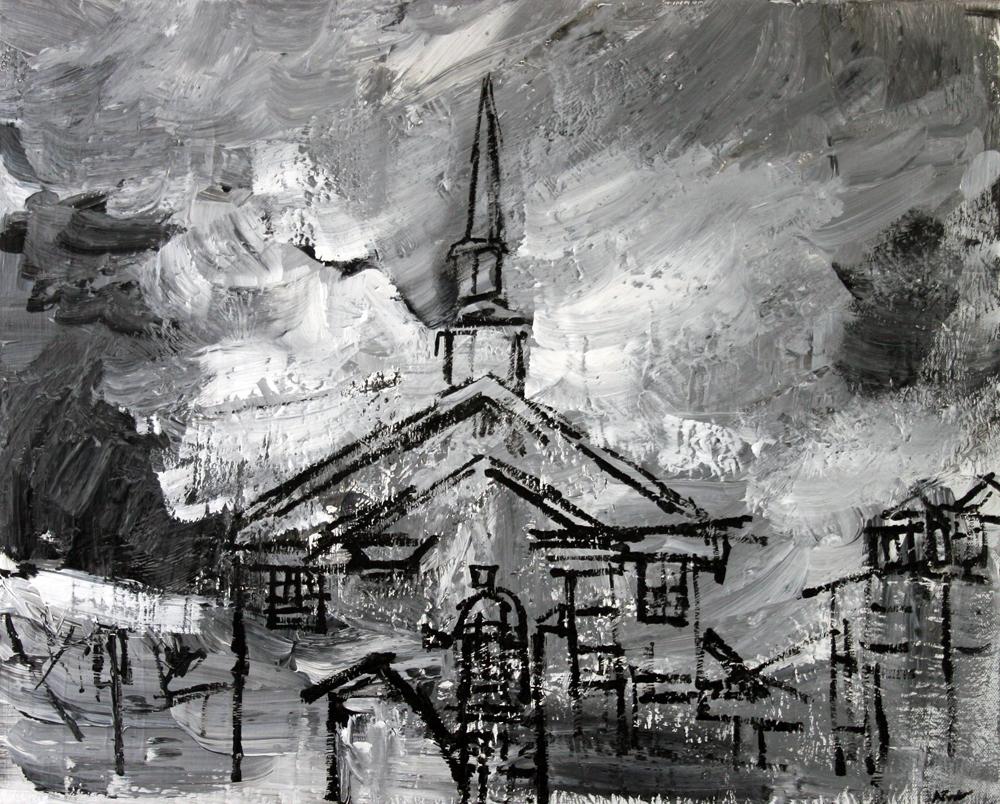 2012-044 Alexandria, Virginia - Painting by Alyse Radenovic