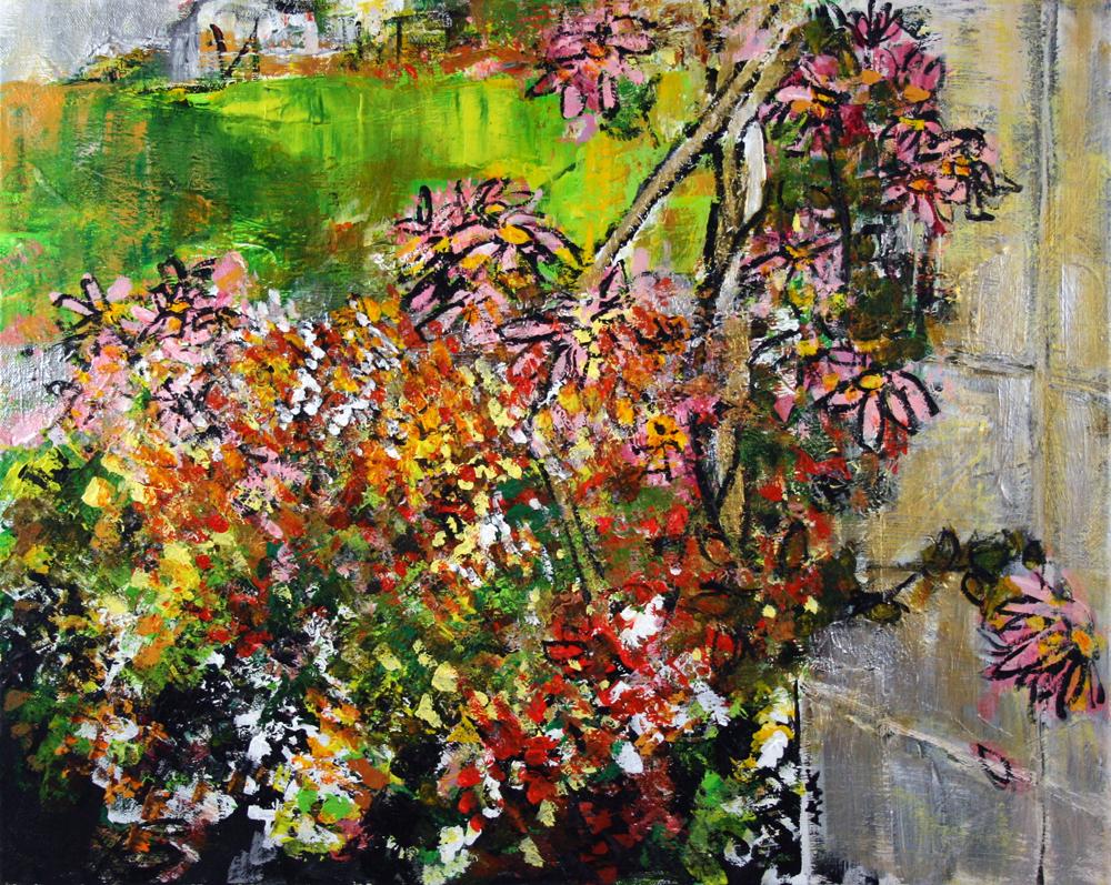 2012-119 Daisies, Butterfly Garden, United States Botanic Garden, Washington, D.C. by Alyse Radenovic