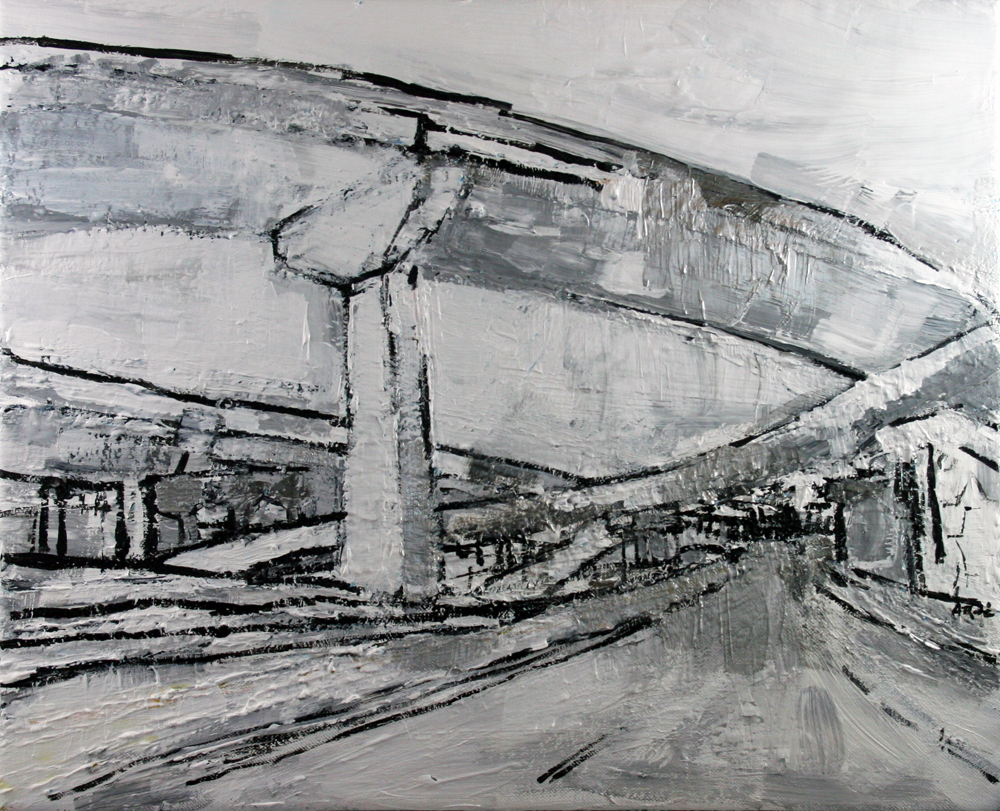 2013-017 Interstate 395 Fairfax Overpass - White, Silver and Gray