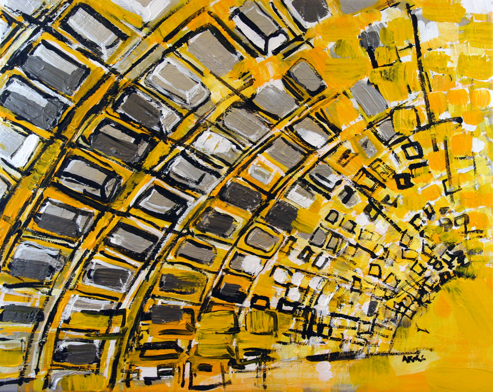 2013-030 Metro Station in Yellow and Silver, Washington, D.C. by Alyse Radenovic