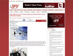 Modern Tokyo Times: Alyse Radenovic and Art: Remembering the Serbian Christian Victims of Bratunac in Bosnia