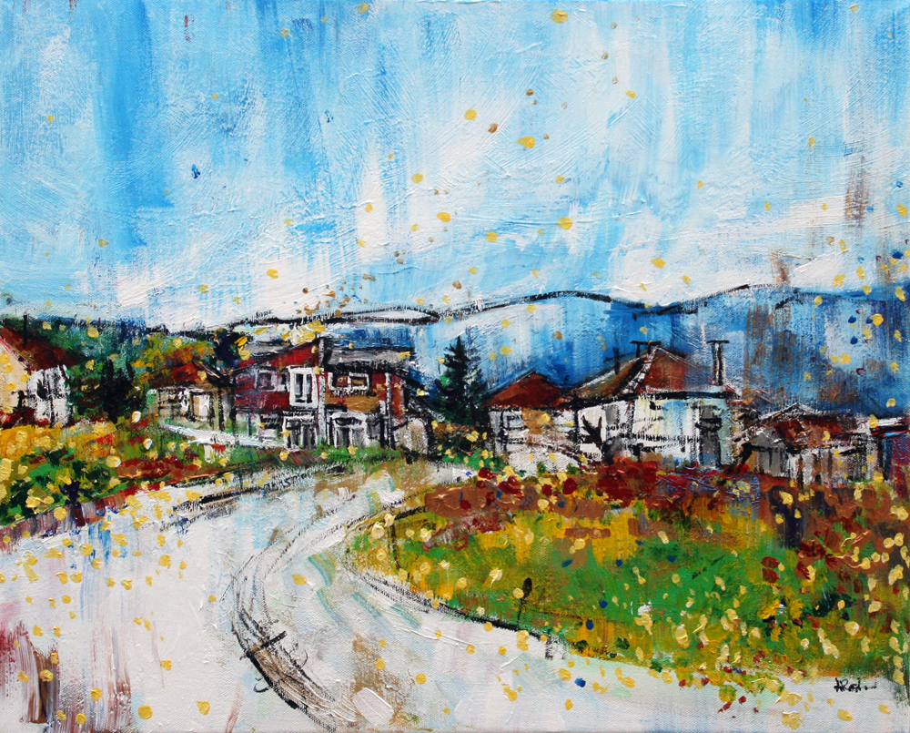 2014-08 Sunny Day on Winding Road in Srpsko Sarajevo by Alyse Radenovic