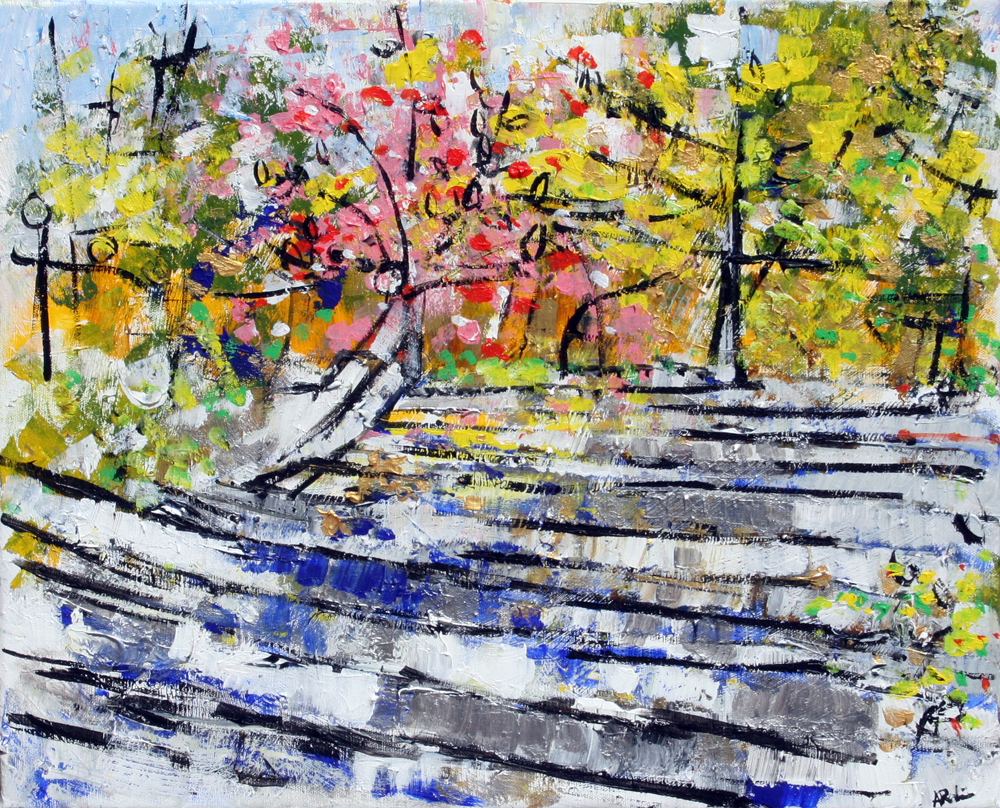 2014-19 Silver and Blue Stairs to Pink and Yellow Woods, Srpsko Sarajevo