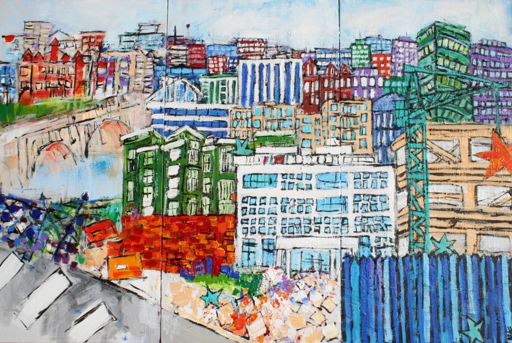 2015-021 Anytown II Mural Triptych