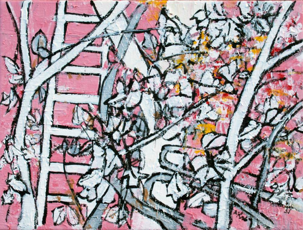 tree and ladder pink