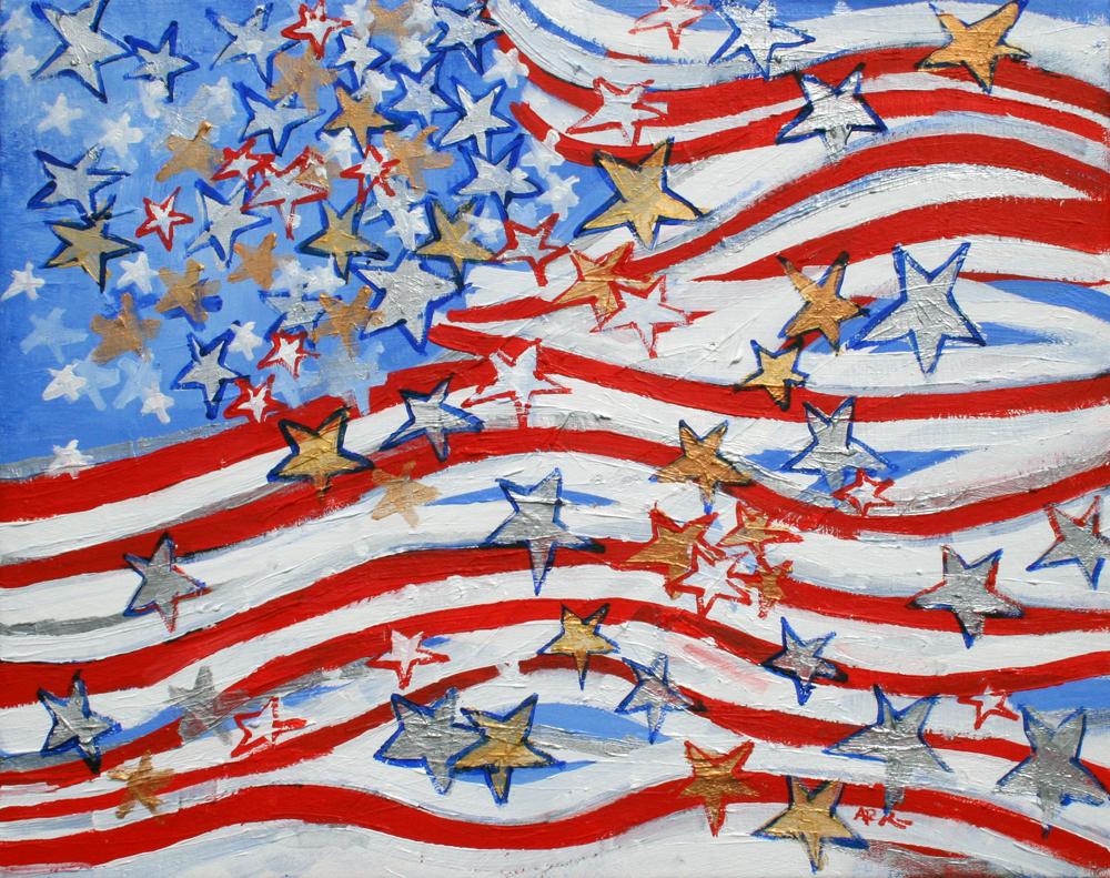 American Flag by Alyse Radenovic