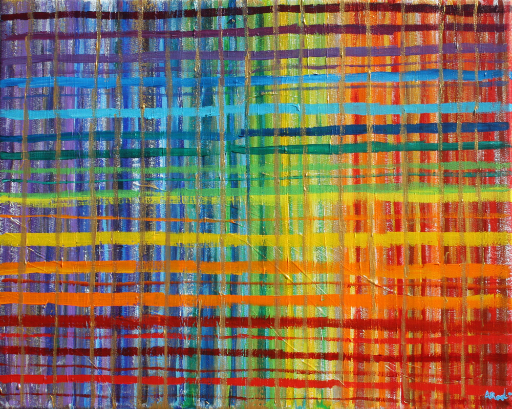 Rainbow Grid Alyse Radenovic