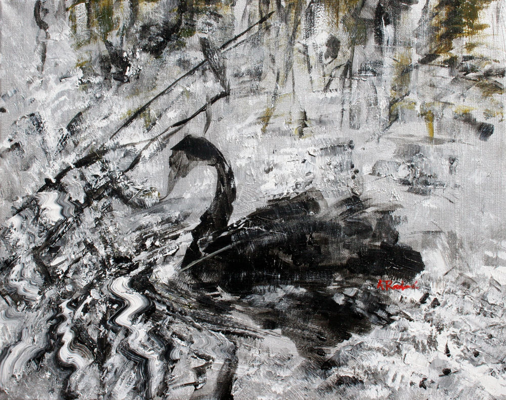 Black Swan by Alyse Radenovic. After a photo by Xiyang Liu